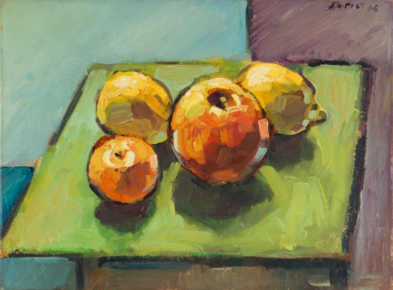 Peter Dotrel Stillleben mit Äpfeln und Zitronen