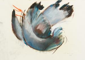 Peter Dotrel Blauer Vogel