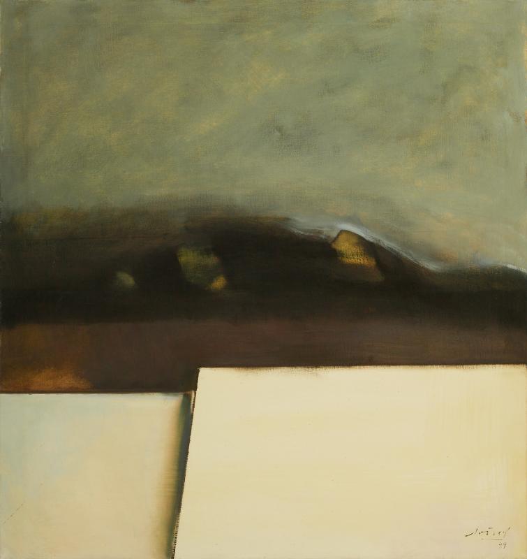 Peter Dotrel Komposition mit weißen Flächen