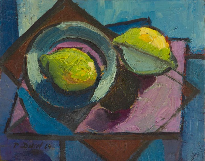 Peter Dotrel Stillleben mit Zitronen