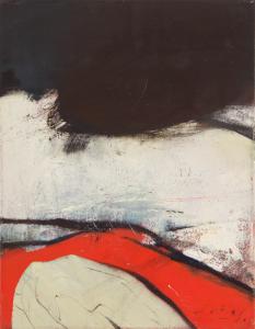 Peter Dotrel Komposition in Rot-Weiß-Schwarz