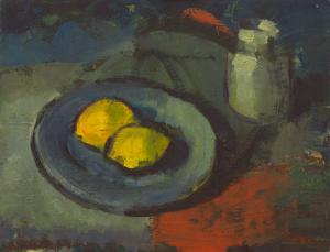 Peter Dotrel Stillleben mit Zitronen und Tintenfass