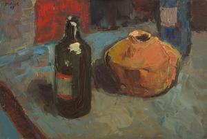 Peter Dotrel Stillleben mit Flasche und Krug