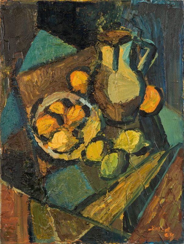 Peter Dotrel Stillleben mit Zitronen und Krug