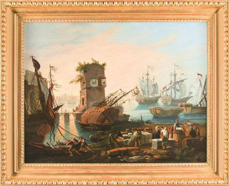 """Bilderuhr """"Am Hafen"""""""
