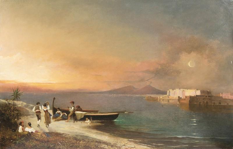 Franz Richard Unterberger Feierabend am Golf von Neapel