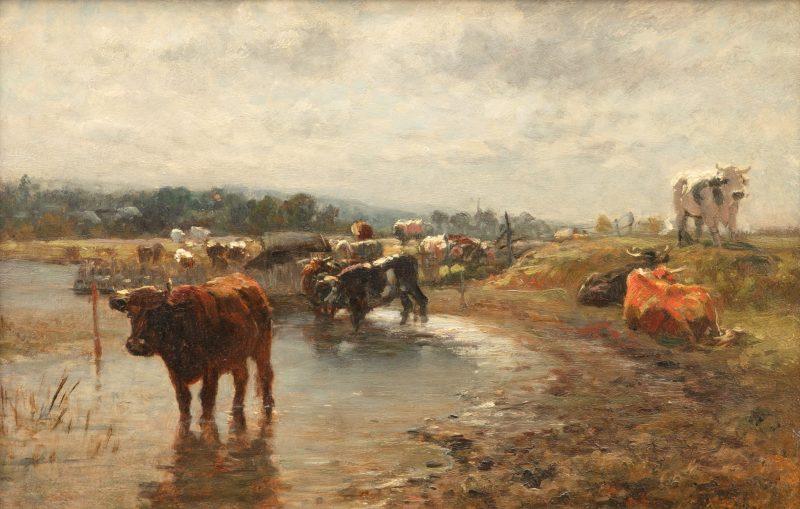Otto von Thoren Landschaft mit Kühen
